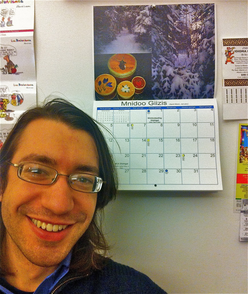 Kalvin Hartwig (Mishka-desi) with his 2014 calendar